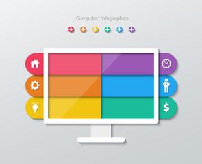 paper computer infographics