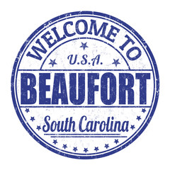 Welcome to Beaufort  stamp