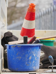 street cone bucket tools
