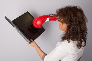 gant de boxe et portable