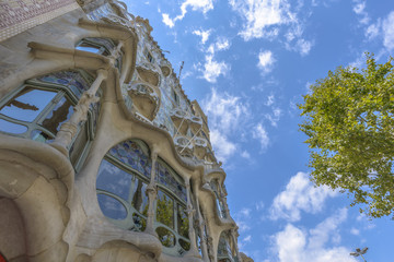 Casa Batllo, Eixample District, Barcelona, Spain