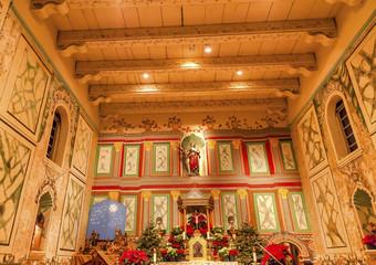 Old Mission Santa Ines Solvang California Basilica Altar Cross