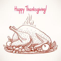 appetizing fried turkey