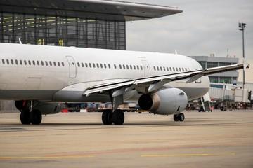 White cargo plane at airport