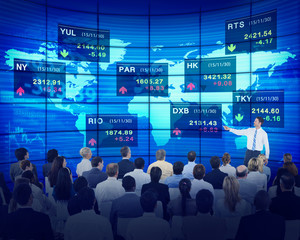 Business People Corporate Seminar Stock Exchange Finance
