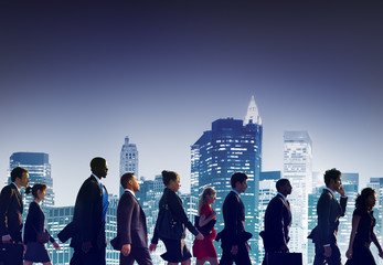 Business People Corporate Travel Walking City