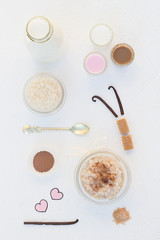 Rice Pudding and Milk Shots