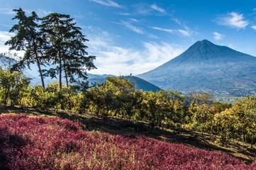 View of Agua Volcano outside Antigua, Guatemala