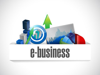 e business economy icons illustration