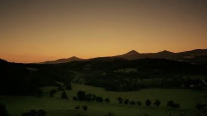 Sunset in Czech Mountains