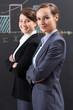Elegant businesswomen working in office