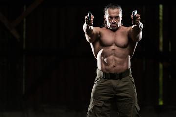 Man Drawing A Gun In Self Defense