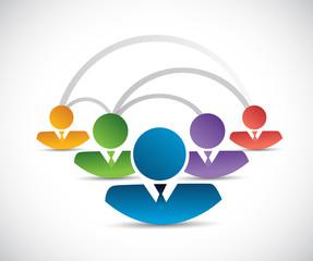 people network communication illustration design