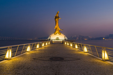 Statue of kun iam the goddess of mercy landmark of macau china