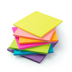 Multicolor post-it sticky note pads