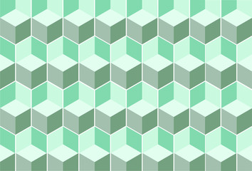 cube pattern light green diagonal vector design