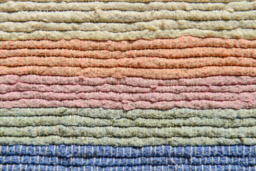 Multicolor fabric texture.
