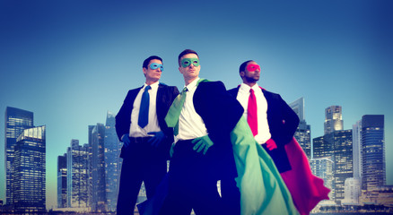 Superhero Businessman New York Concepts
