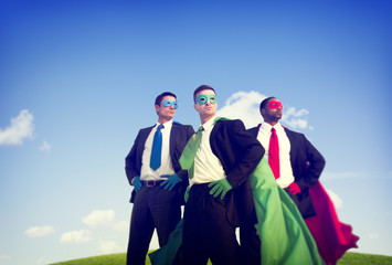 Superhero Businessman Outdoor Power Concepts