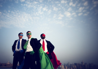 Superhero Businessmen New York City Concept