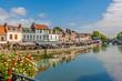 canvas print picture - Amiens- Quartier Saint Leu