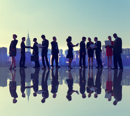 Business People New York Outdoor Meeting