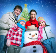 Family Christmas Holiday Winter Happiness Concept