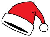 flauschige rote weihnachtsm tze vektor und. Black Bedroom Furniture Sets. Home Design Ideas