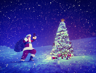 Santa Claus Christmas Tree Gifts Christmas