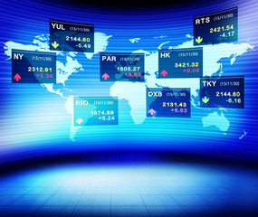 Business Global Currency Stock Market Concept