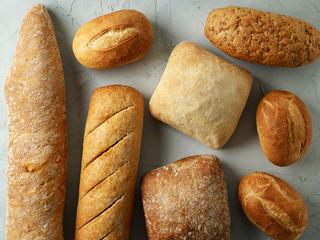 freshly baked bread buns