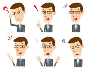 ビジネスマン 表情