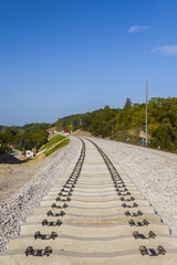 Construction of a new railway line