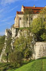 he Benedictine Abbey in Tyniec, Krakow, Poland.