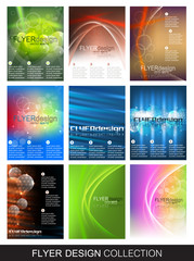 Flyer design collection, set of corporate banner or cover design
