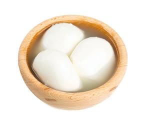 fresh mozzarella isolated on white