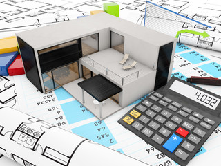 real estate finances concept