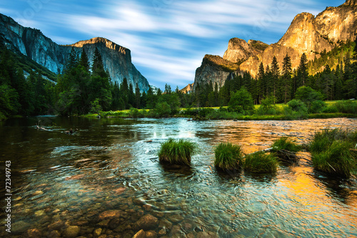 Poster Natuur Park Valley View Yosemite