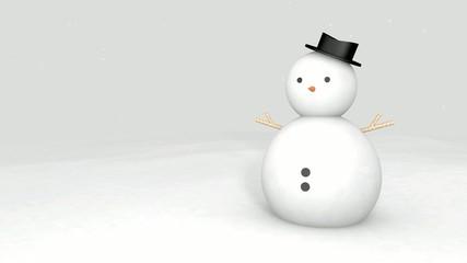 Snowman 3D Background