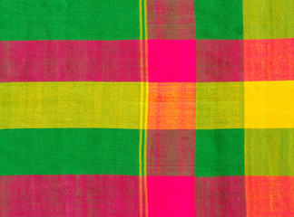 Colorful scott fabric