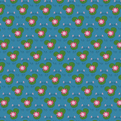 seamless pattern with lily3