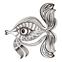 Cartoon fish. Graphic design
