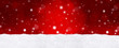 canvas print picture - Roter Bokeh Hintergrund mit Schnee / Weihnachtlich