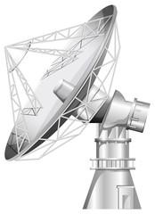 A grey satellite