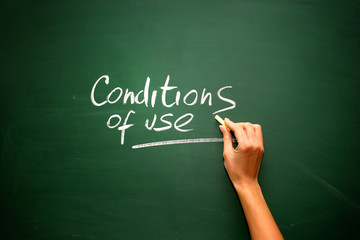 Conditions of use, hand draw