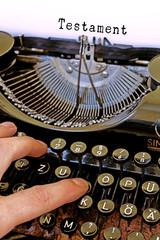 Nostalgie Schreibmaschine, Testament Wort
