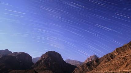 Sky with stripes. Tajikistan, Iskander-Kul. Time Lapse. 4K