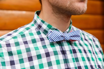 Vintage bowtie and shirt