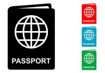 Pictograma pasaporte con varios colores