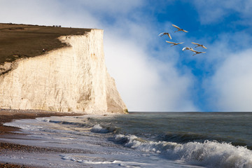Seven Sisters clifs, England, UK.
